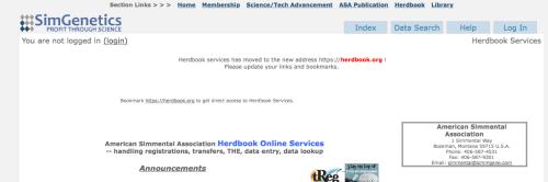 Herdbook page