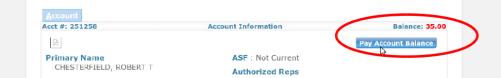 Pay account balance